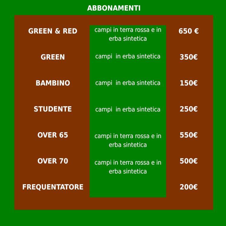 costo abbonamenti